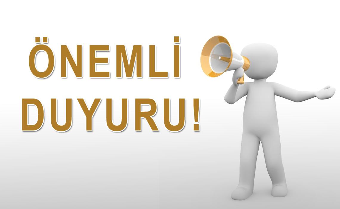 ONEMLİ-DUYURU